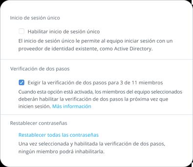 Herramienta de seguridad para la verificación de dos pasos
