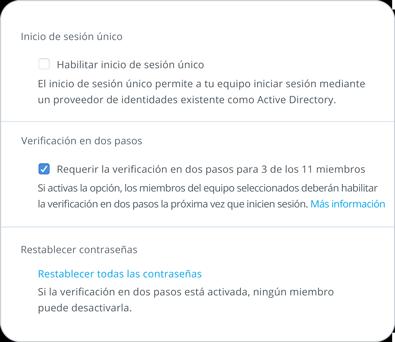 Herramienta de seguridad mediante verificación en dos pasos