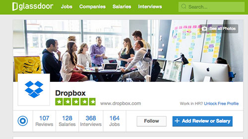Dropbox on Glassdoor