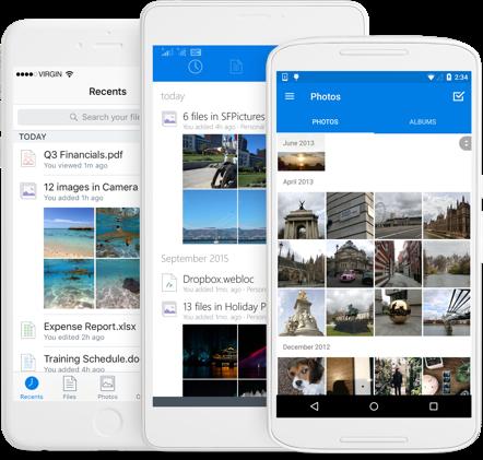 Mobiele Dropbox-app