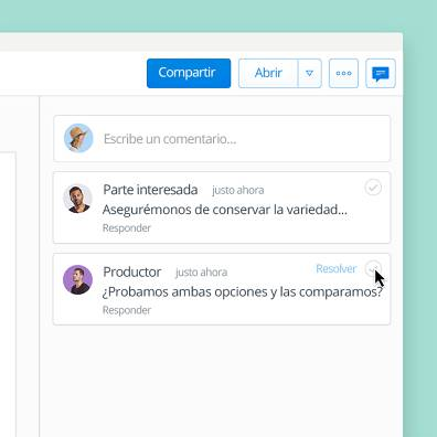 Añade comentarios a archivos en Dropbox