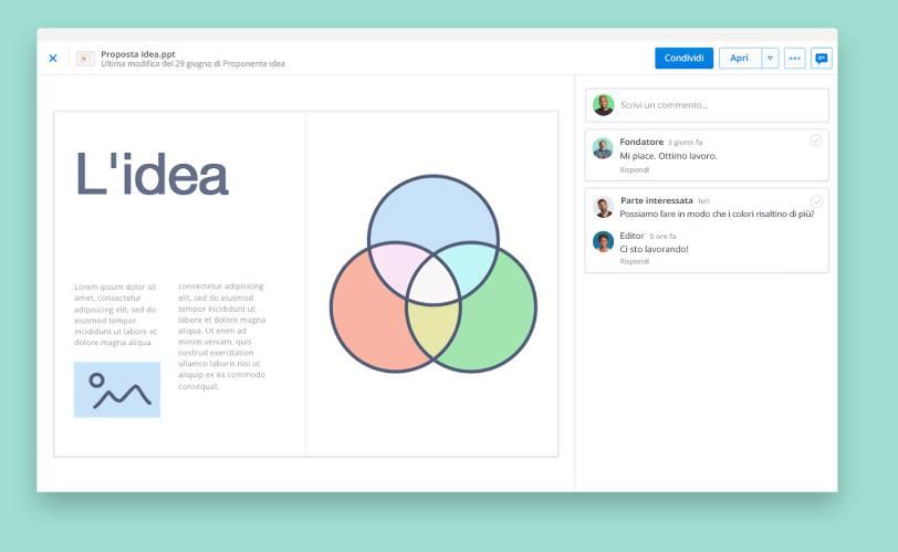 Visualizza le presentazioni con l'anteprima dei file di Dropbox