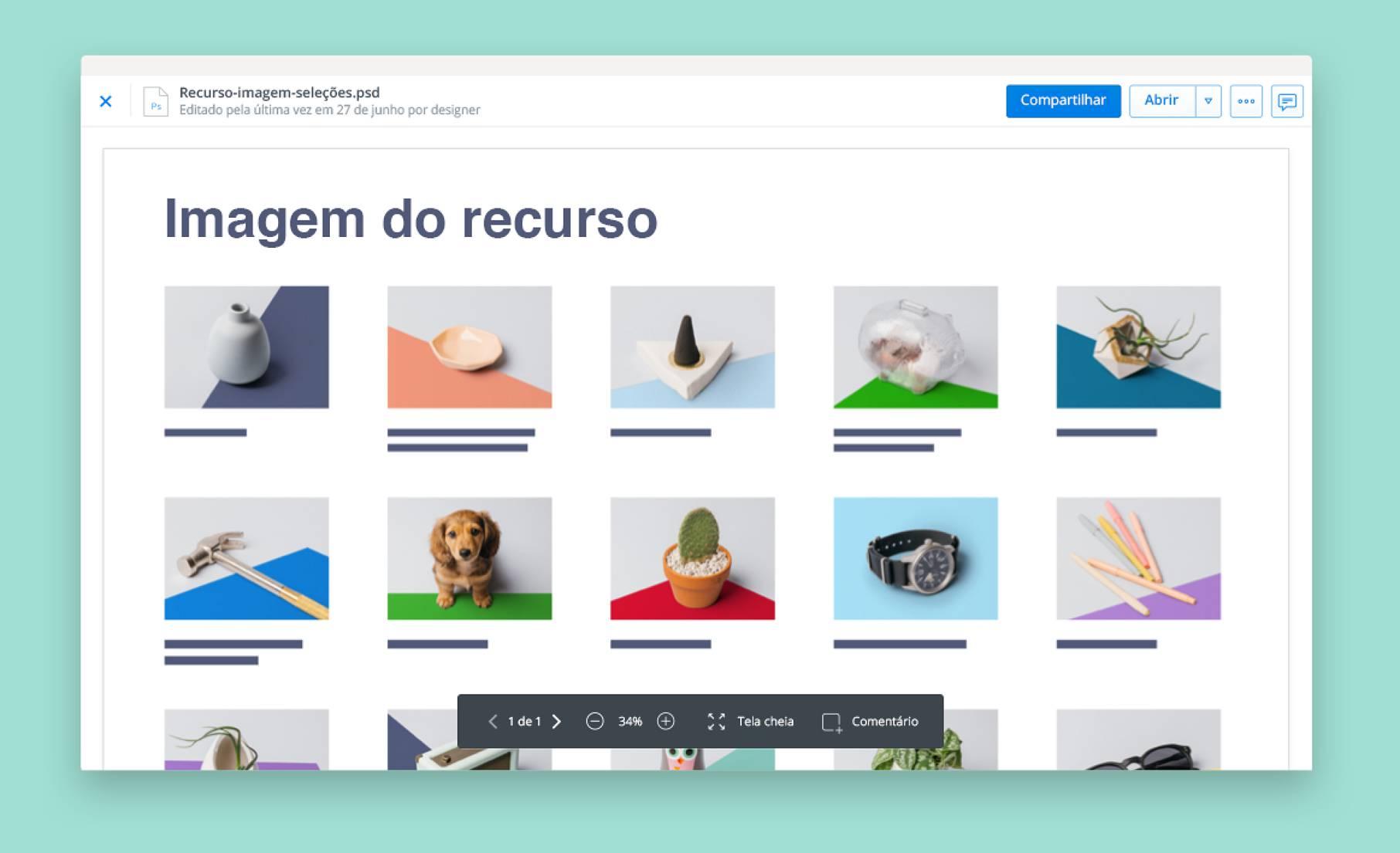 Veja imagens com a pré-visualização de arquivos doDropbox