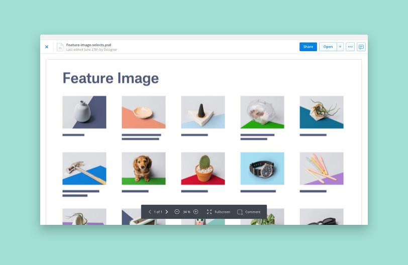 View images with Dropbox file preview