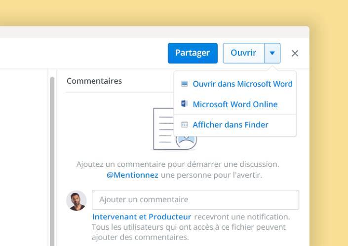 La fonctionnalité de cocréation de Microsoft permet de collaborer sur des documents à partir de Dropbox