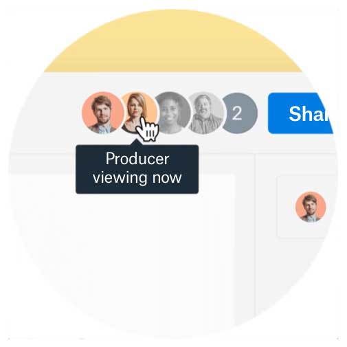 Skip the follow-up email by seeing who on your team has viewed your file (and when).