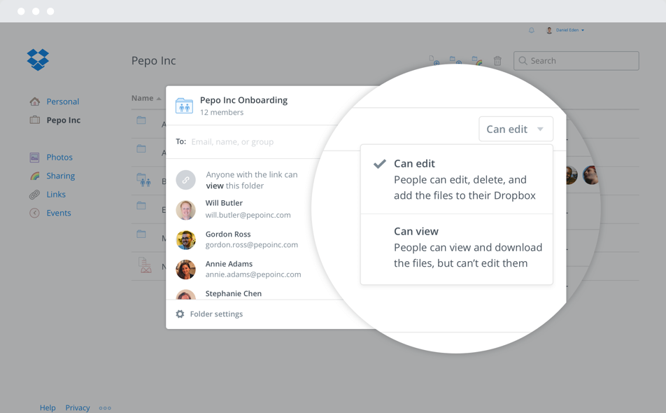 Instantly share files